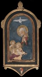 Virgin Adoring the Child Supported by Angels