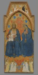 Christ and the Virgin Enthroned, with Allegories of the Old and New Testament