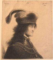 Man in a Gorget and Cap with Feather (the so-called Portrait of György I Rákóczi)