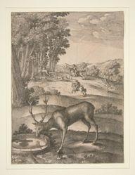 The Stag (Der Hirsch), illustration for Aesop
