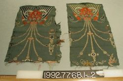 Pair of 18th(?) century brocade fragments