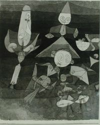 "Photograph of Paul Klee's ""Blumen im Wind,"" 1922, watercolor and ink [MoMA] -- from Katherine S. Dreier's private collection"