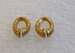 Pair of Oval Ear Ornaments