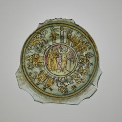 """""""Gold-Glass"""" Base Fragment: Scenes from the Life of Christ"""
