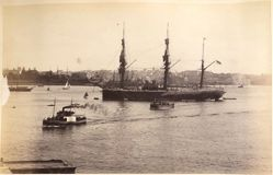 "H. M. S. ""Nelson,"" Sydney, from the album [Sydney, Australia]"