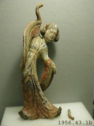 Pair of Terra Cotta dancing girls