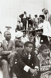Front: Sammy Davis, Jr. and Ruby Dee: Eugene T. Reed (background seated), from the series Prayer Pilgrimage for Freedom