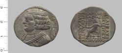 Tetradrachm of Orodes II, King of Parthia from Seleucia ad Tigrim