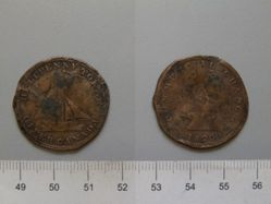 "Half Penny ""Sloop Token"" from Upper Canada"
