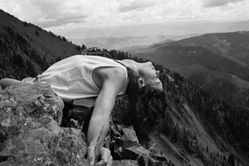Donna Ferrato, Christy Ferrato Unfettered, Mother, Educator, Artist, Poet, Unbeatable, Rocky Mountains, from the series Holy