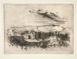 Blatt 1, from Eine Woche (One week), portfolio of seven landscape etchings
