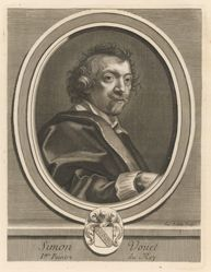 Jacques Lubin, Simon Vouet, from the book Les hommes illustres . . . , vol. II, by Charles Perrault