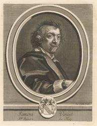 Simon Vouet, from Perrault's Les hommes illustres