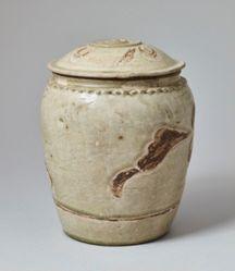 Jar with Scrolling Lotus