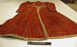 Coat of printed cotton velvet