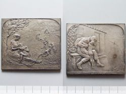 Lead Plaquette from Belgium of Child Welfare
