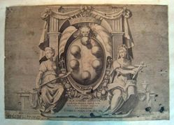 Saint John the Baptist: Medici coat of arms, from the Life of St. John the Baptist [Title page]