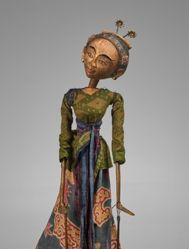 Rod Puppet (Wayang Golek) of a Dancer (Gambyong) or Golek Gandrung
