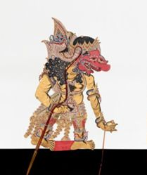 Shadow Puppet (Wayang Kulit) of Brojomusti, from the consecrated set Kyai Nugroho