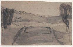 Untitled [Farmscape (recto); Landscape (verso)]