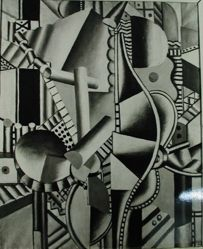 "Photograph of Fernand Leger's ""Les Helices,"" oil [MoMA] -- from Katherine S. Dreier's private collection"