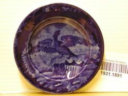 Cup Plate with American Eagle and Shield (so-called Boston Harbor)