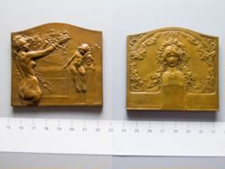 Bronze Plaquette from Belgium of Health