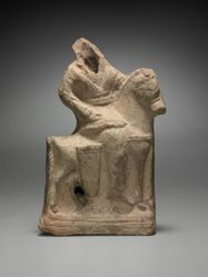 Figurine of mounted Parthian horseman