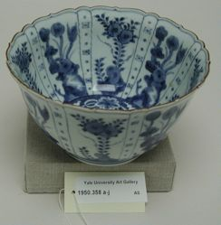 Blue and white Imari bowl