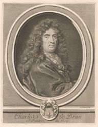 Charles Le Brun, from Perrault's Les hommes illustres