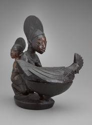Maternity Figure with a Bowl in the Form of a Rooster
