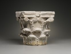 Corinthian column capital.