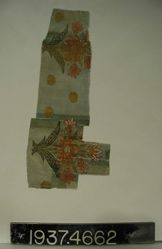 Brocaded plain cloth fragment
