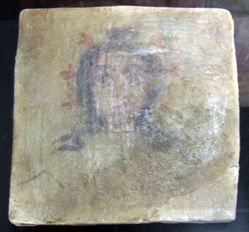 Painted Tile with Face