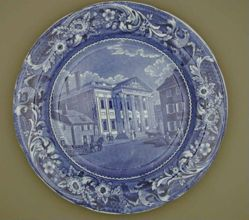 Plate with a view of Philadelphia, Bank of United States