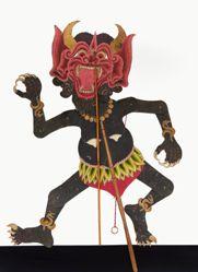 Shadow Puppet (Wayang Kulit) of Jajal or Raja Setan