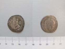 Silver sixpence piece of Elizabeth I from London