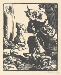 Les Prussiens massacreurs (The Prussian Slaughterers), from La Guerre de 1914, first series, no.13