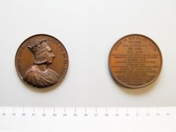 Bronze medal of Louis IX Roi