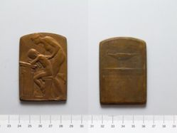 Bronze Plaquette from Belgium of Education
