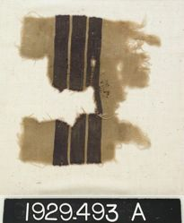Textile Fragment with Three Purple Bands