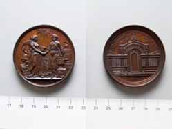 Bronze Medal from Belgium of Commemorating the Industrial Arts Exhibition, 1874