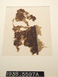 Textile, fragment with pile and purple
