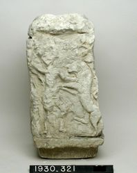 "Relief of Herakles and lion, ""Parthian Altar"""