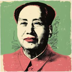 Mao, in a portfolio of ten: White face