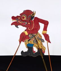 Shadow Puppet (Wayang Kulit) of Togog or Togac