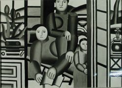 "Photograph of Fernand Leger's ""People in a Garden,"" 1922, oil [American University, sold 1961 to Dr. Alan Emil] -- from Katherine S. Dreier's private collection"