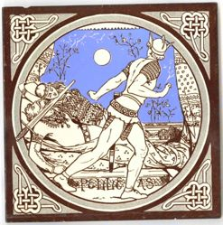 "One of a set of Minton tiles: ""Pelleas"""