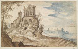 Imaginary Landscape with the Temple of Sibylla, Tivoli