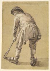 Untitled [peasant farmer digging]